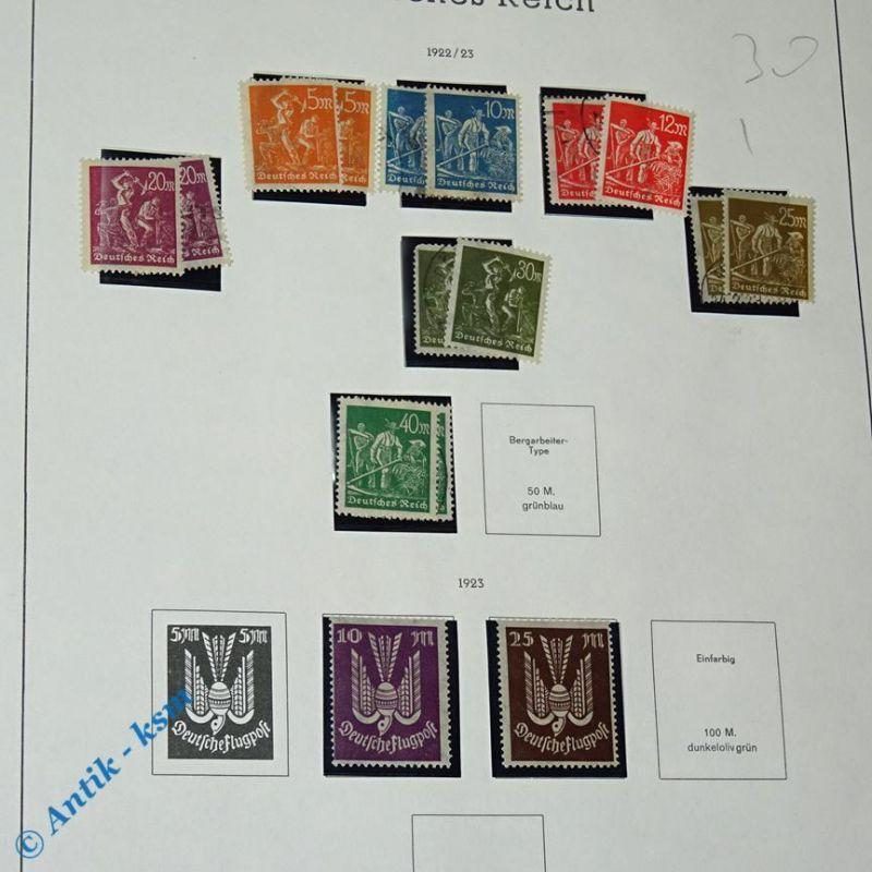 16 Briefmarken von 1922/23 Mi.-Nr. ? , 5  Mark bis 40 Mark , siehe Detailbilde
