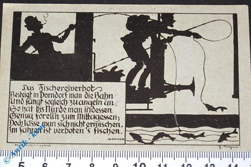 Notgeld Dermbach , Röhnklubzweigverein , 75 Pfennig Schein Nr 3 , M/G 265.1 ,kfr