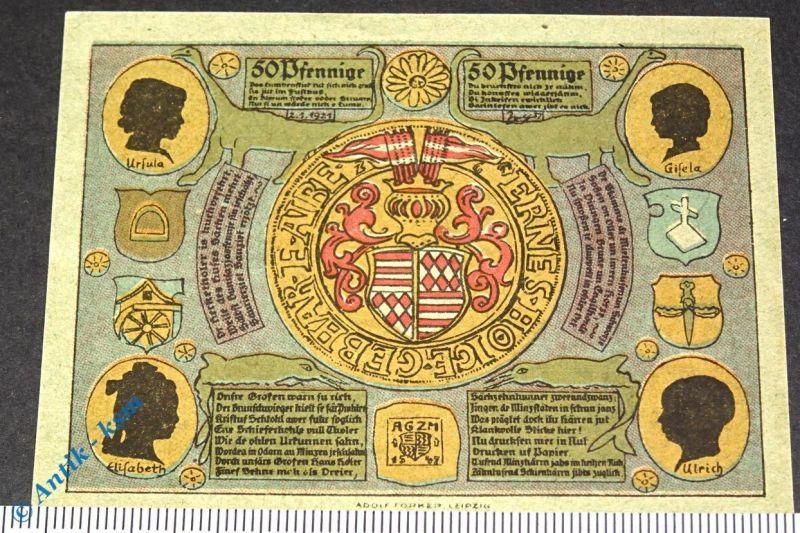 Notgeld Artern , 50 Pfennig Schein , Papier grün , Mehl Grabowski 45.5 , kfr/unc
