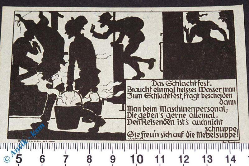 Notgeld Dermbach , Röhnklubzweigverein , 75 Pfennig Schein Nr 2 , M/G 265.1 ,kfr