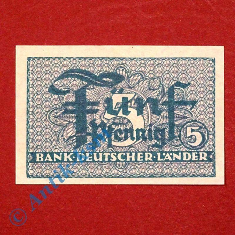Banknote über 5 Pfennig , Kopfgeld Bank deutscher Länder , Ros. 250 , kfr/unc