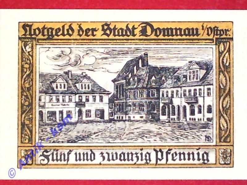 Notgeld Domnau , 25 Pfennig , verschl. Kreise , Mehl Grabowski 280.2 , kfr./unc