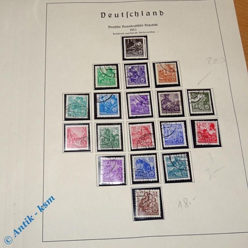 19 Briefmarken DDR 1953 Mi.-Nr. ? , 1 Pfennig bis 84 Pfennig siehe Detailbilder