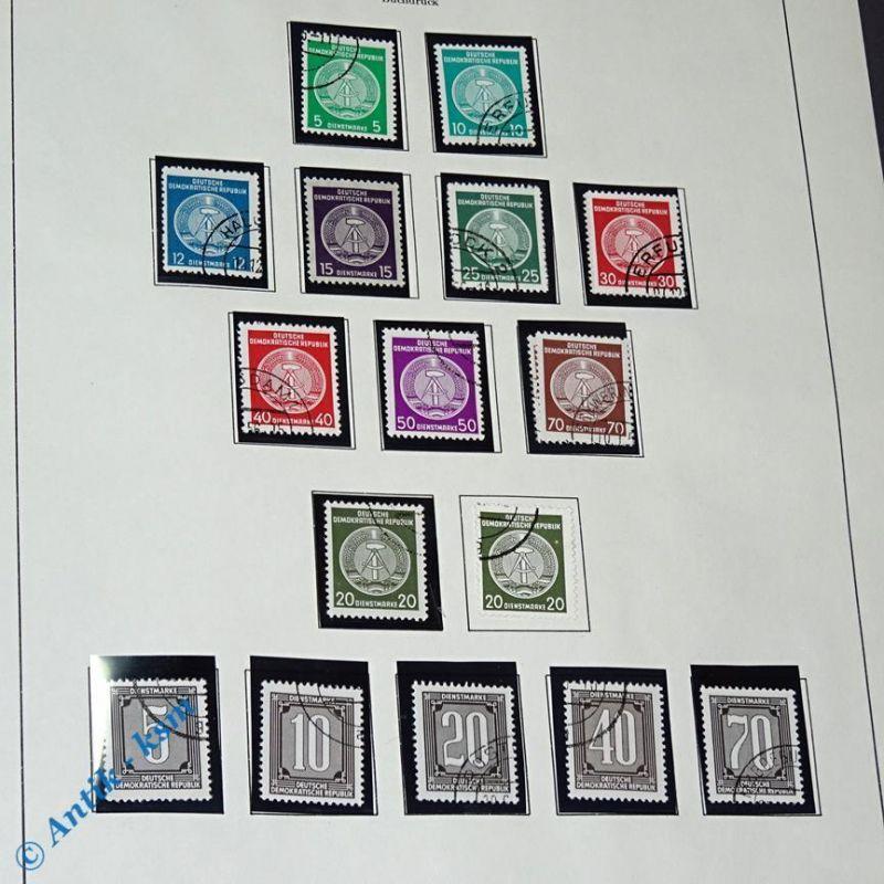17 Briefmarken DDR 1955/56 Mi. ? ,5 Pfennig bis 70 Pfennig , s. Detailbilder