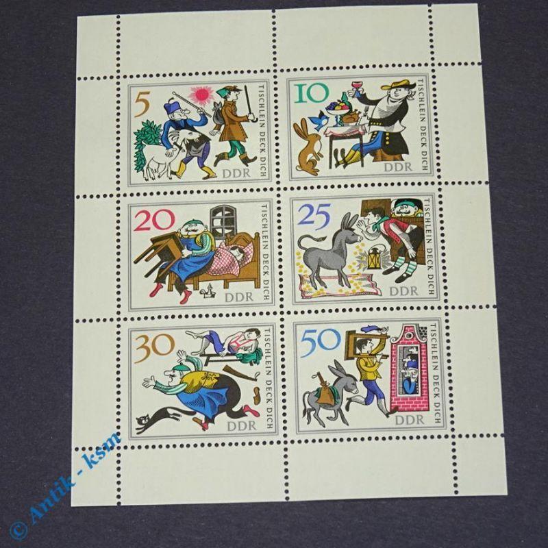 Briefmarken Block DDR 1966 Mi.Nr ? 5 Pfennig bis 50 Pfennig , siehe Bilder