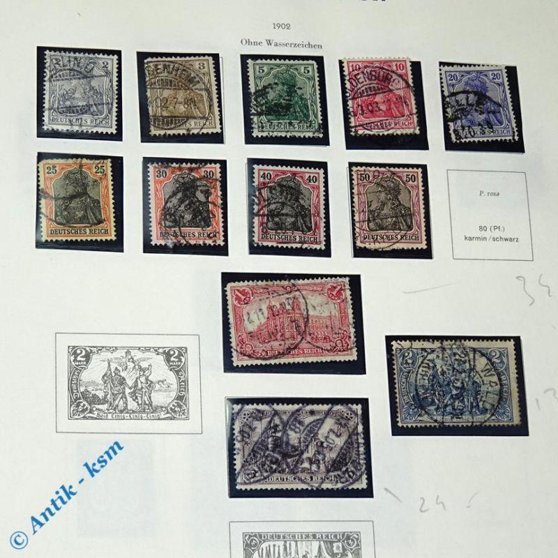 12 Briefmarken von 1902 Mi.-Nr. ? , 2 Pfennig bis 2 Mark , siehe Detailbilde 0