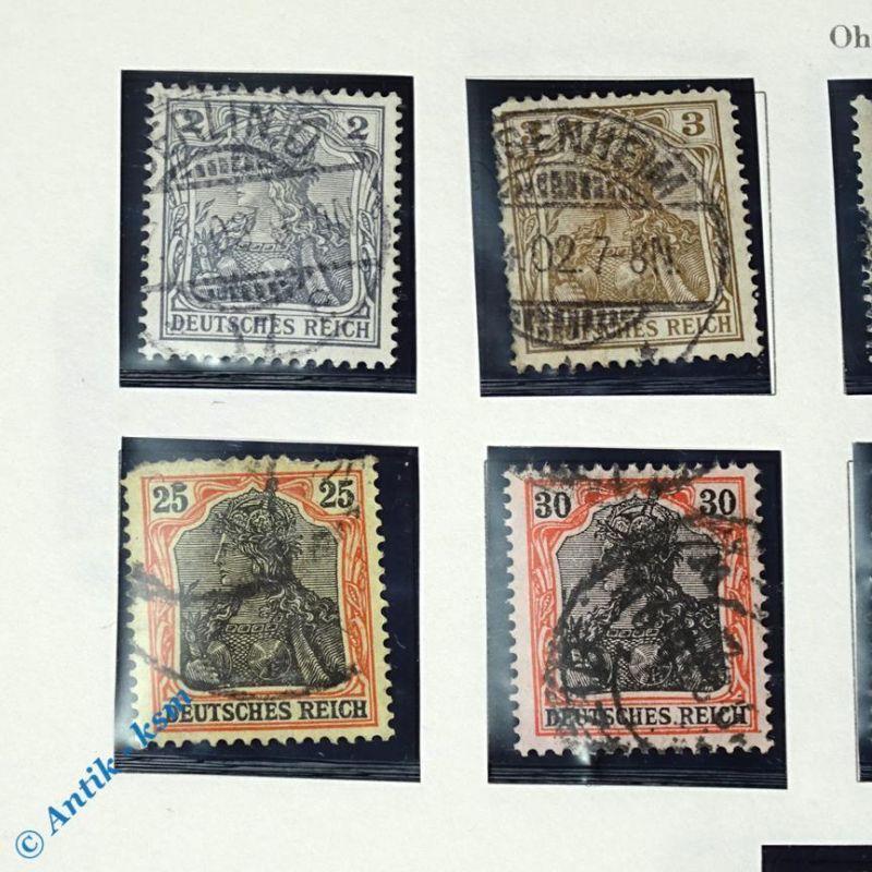 12 Briefmarken von 1902 Mi.-Nr. ? , 2 Pfennig bis 2 Mark , siehe Detailbilde 1