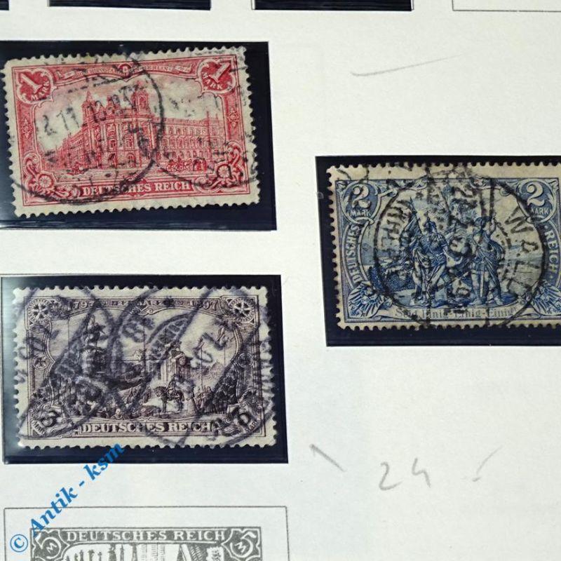 12 Briefmarken von 1902 Mi.-Nr. ? , 2 Pfennig bis 2 Mark , siehe Detailbilde 3