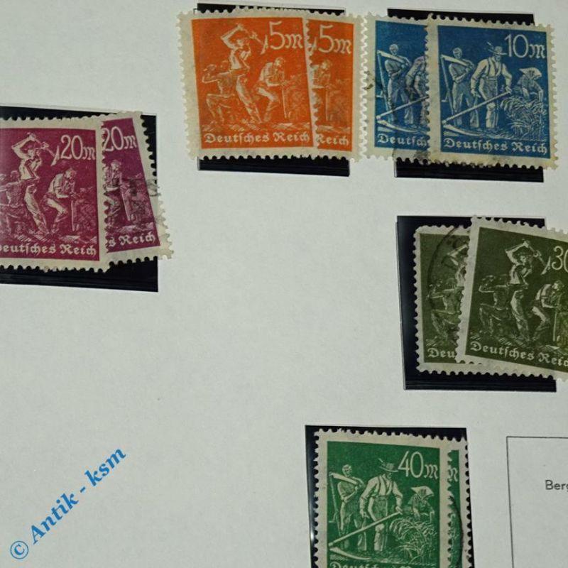 16 Briefmarken von 1922/23 Mi.-Nr. ? , 5  Mark bis 40 Mark , siehe Detailbilde 1