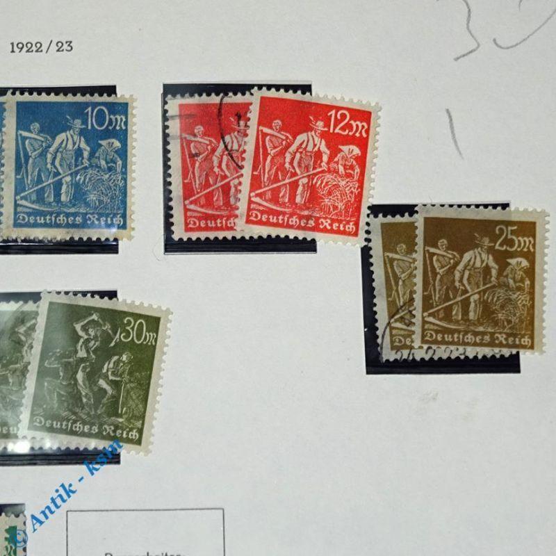 16 Briefmarken von 1922/23 Mi.-Nr. ? , 5  Mark bis 40 Mark , siehe Detailbilde 2