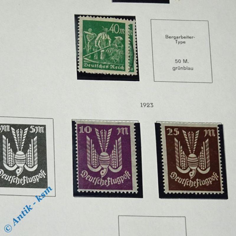 16 Briefmarken von 1922/23 Mi.-Nr. ? , 5  Mark bis 40 Mark , siehe Detailbilde 3