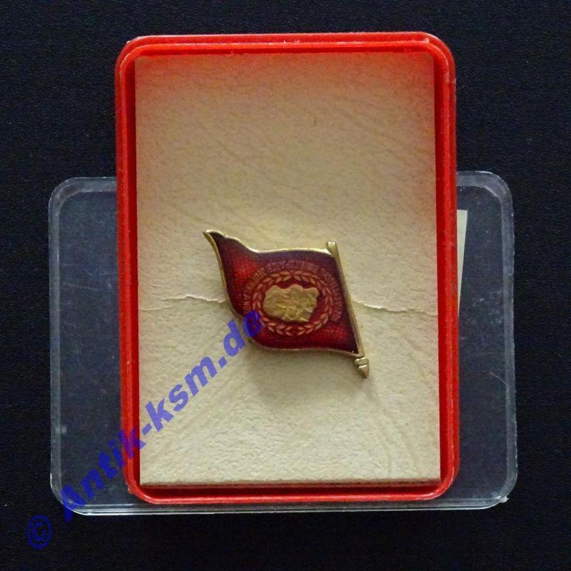 DDR Anstecker , Medaille , SED Abzeichen -- 3 Köpfe -- seltener  --ansehen--