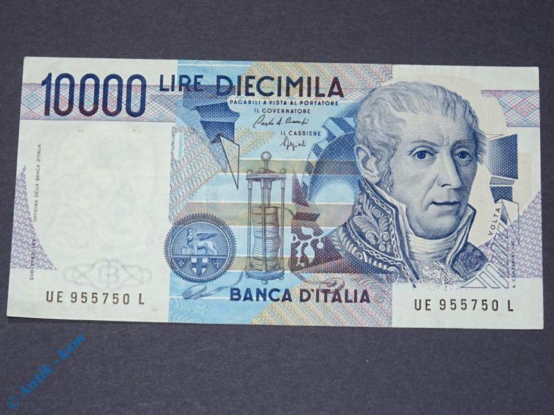1 x Banknote Italien , 10.000 Lire , Volta , von 1984 , Cinquemila Lire kfr/unc