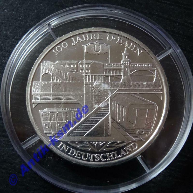 A Top 10 Euro Münze, 925er Silber, 100 Jahre U-Bahn in Deutschland  --- L@@k ---