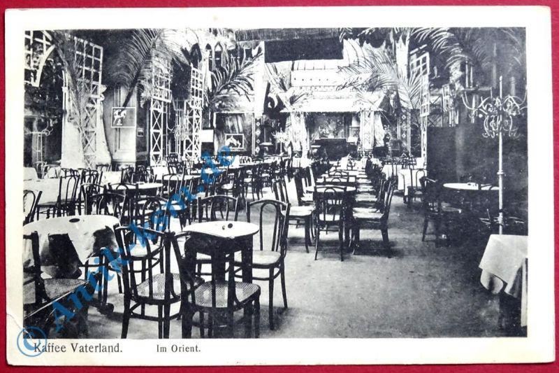 Postkarte Ansichtskarte Hannover , Motiv: Kaffee Vaterland . gelaufen 1917 FP