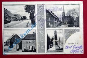 A  Postkarte Ansichtskarte Vellahn , Motiv : Ortsbilder, Gebäude , gelaufen 1914