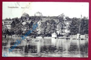 A  Postkarte Ansichtskarte Schmalkalden , Motiv : Neuer Teich , gelaufen 1917