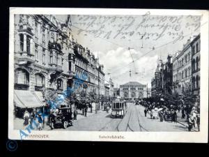 Ansichtskarte Hannover, Motiv: Bahnhofstrasse , Feldpost , 1916 gelaufen