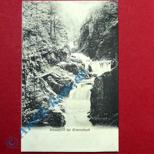 Postkarte Ansichtskarte Enterrottach , Tegernsee , Motiv  Wasserfall , gel. 1910