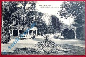 B Postkarte Ansichtskarte Bad Salzschlirf, Motiv: Partie am Kurhaus gel. um 1920