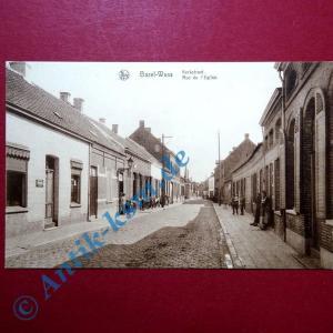 Postkarte Bazel, Basel , Ostflandern Kruibeke , Kerkstraat , ca. 1910 ?