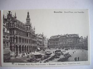 Alte AK Brüssel Bruxelles Grand Place Marktplatz [76]
