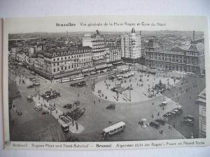 Alte AK Brüssel Bruxelles Bahnhof Gare du Nord [77]