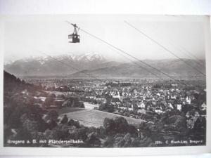 Alte AK Bregenz mit Pfänderseilbahn [87]