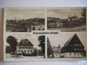 Alte AK Frauenstein Erzgebirge [88]