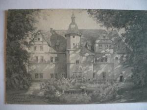 Alte AK Dornburg an der Saale Das Goethe-Schloß [99]