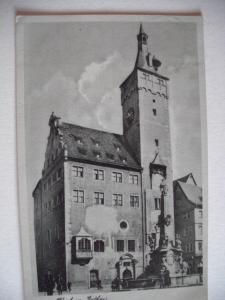 Alte AK Würzburg Rathaus [102]