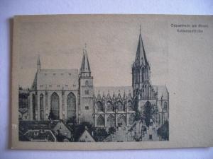 Alte AK Oppenheim Katharinenkirche  [123]