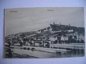 Alte AK Würzburg Festung [130]