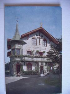 Alte AK Oberammergau Haus des Christusdarstellers Anton Lang [131]