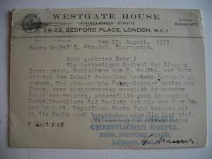 Alte AK Briefkarte London Westgate House  [137]