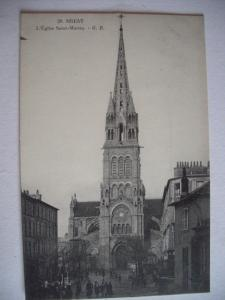 Alte AK Brest L'Eglise Saint Martin [138]