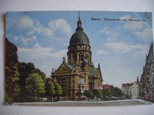 Alte AK Mainz Kaiserstraße Christuskirche [141]