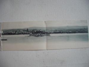 Alte AK Aufklappbar Doppelkarte Wiesbaden Schifffahrt [143]