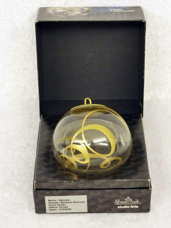 RARITÄT: Rosenthal Glaskugel Icarus - Motiv Spirale – Barbara Brenner – 70er Jahre (?)