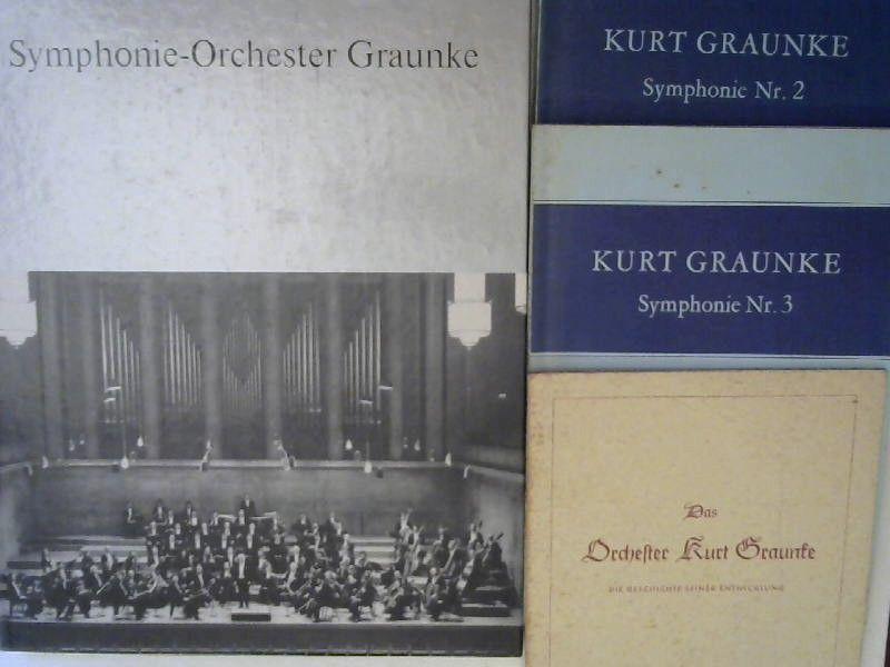 Symphonie-Orchester Graunke e. V. (Hg.): 1 Buch und 3 Zugaben: 1) Symphonie-Orchester-Graunke. 1945-1985. ZUGABEN: 1) Das Orchester Kurt Graunke. Die Geschichte seiner Entwicklung; 2) Kurt Graunke. Symphonie Nr. 2; 3) Kurt Graunke. Symphonie Nr.3.