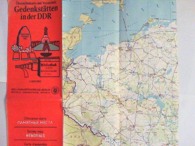Dörhöfer, G. (Redaktion): Gedenkstätten in der DDR. Übersichtskarte mit Verzeichnis im Maßstab 1:600000. Kartographie: K.-H. Graf; K. Hergt.
