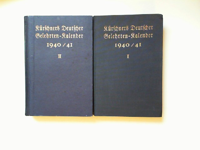 Lüdtke, Gerhard (Hg.): In 2 Bänden: Kürschners Deutscher Gelehrten-Kalender 1940/ 41.