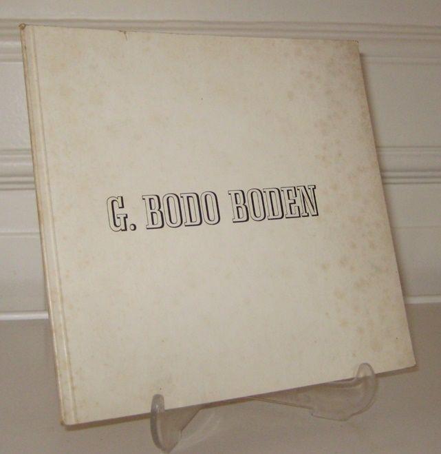 Boden, G. Bodo: G. Bodo Boden.
