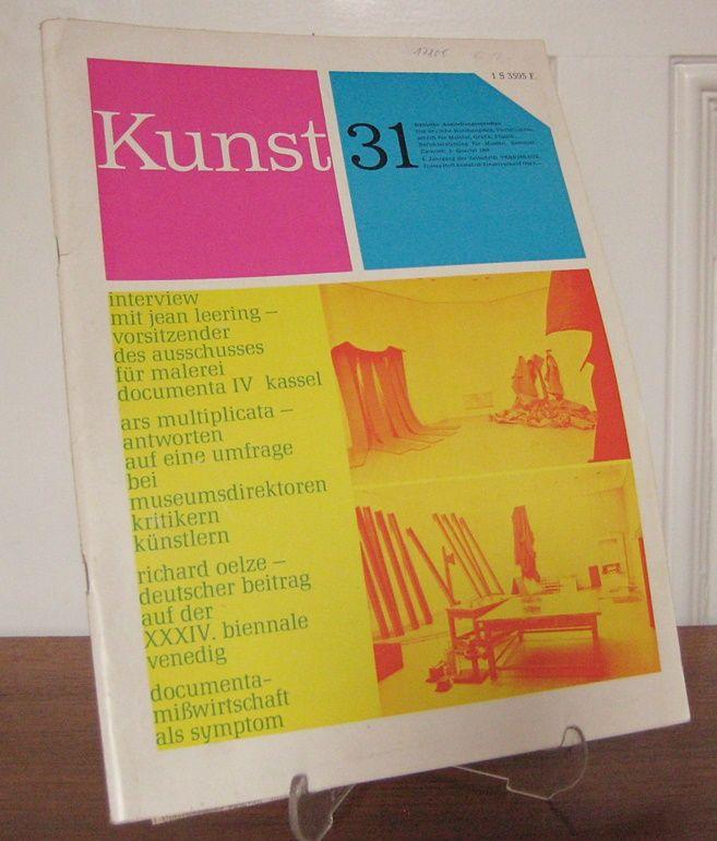 Das deutsche Kunstmagazin (Hrsg.): Kunst 31. Deutsche Ausstellungsvorschau. Das deutsche Kunstmagazin. Vierteljahresschrift für Malerei, Grafik, Plastik. Berichterstattung für Museen, Sammler, Galerien. 3. Quartal 1968.