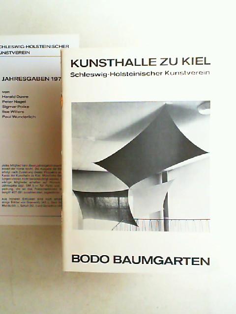 Kunsthalle zu Kiel und Schleswig-Holsteinischer Kunstverein (Hrsg.): Bodo Baumgarten. Ausstellungskatalog 23.11.75 - 11.1.1976.