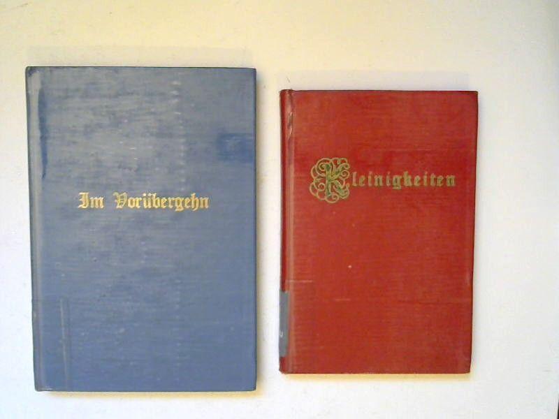Clausen, Emma: 2 Bücher zusammen - Emma Clausen: 1) Im Vorübergehn. Gedichte; 2) Kleinigkeiten. Gedanken in Vers und Spruch.