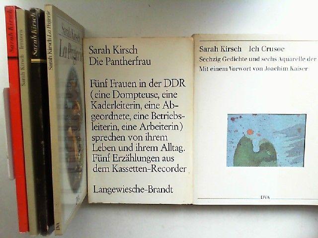 Kirsch Sarah Sarah Kirsch Sechs Bücher Zusammen 1 Zaubersprüche 2 Irrstern 3 La Pagerie 4 Rückenwind 5 Die Pantherfrau Fünf Frauen In