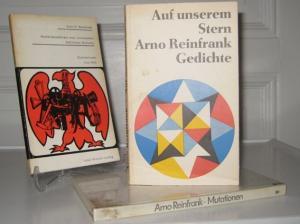 Reinfrank, Arno K.: 3 Bände: Auf unserem Stern. Gedichte. / Deutschlandlieder zum Leierkasten. Satirische Balladen. Mit Illustrationen von Uwe Witt. Mutationen. Poesie der Fakten.