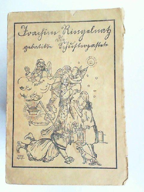 Ringelnatz, Joachim: Die gebatikte Schusterpastete. Titelzeichnung von Rudolf Schlichter.