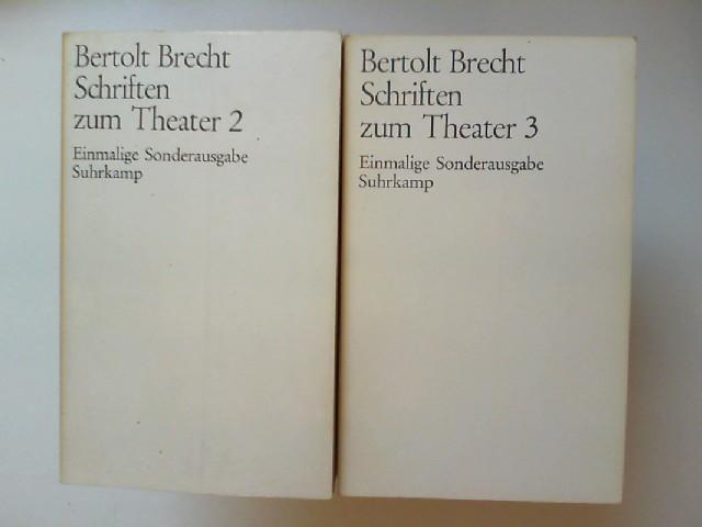 Brecht, Bertolt: Bertolt Brecht - 2 Bücher zusammen: 1. Schriften zum Theater 2, 1918-1933. 2. Schriften zum Theater 3, 1933-1947.